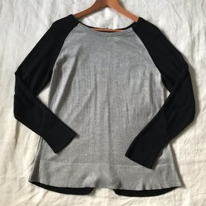 joan vass // cashmere raglan sweater w/zipper back